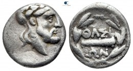 Islands off Thrace. Thasos circa 175 BC. Hemidrachm AR