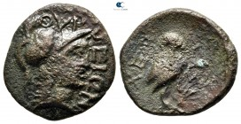 Akarnania. Thyrrheion. ΧΕΡΣΥΣ (Chersys), magistrate after 168 BC. Bronze Æ
