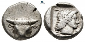 Phokis. Federal Coinage circa 457-446 BC. Hemidrachm AR