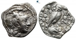Attica. Athens. ΘΕΟΔΟΤΟΣ (Theodotos), ΚΛΕΟΦΑΝΗΣ (Kleophanes) and uncertain magistrate circa 138-137 BC. Drachm AR. New Style Coinage. Class III (α)...
