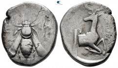 Ionia. Ephesos  circa 387-295 BC. ΕΟΧΩΡΟΣ ? (Eochoros), magistrate. Tetradrachm AR