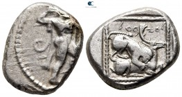 Cyprus. Kition. Azbaal circa 449-425 BC. Stater AR