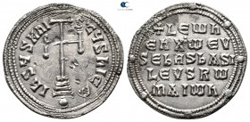 Leo VI the Wise. AD 886-912. Constantinople. Miliaresion AR