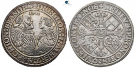 Germany. Schwabach. Georg with Albrecht AD 1527-1541. Taler AR 1541