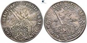 Germany. Dresden. Johann Georg AD 1616-1656. Issue on the centenary of the Augsbuerg Confession. Taler AR 1630