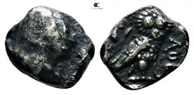 Philistia. Uncertain mint Before 333 BC. Imitating Athens. Obol AR