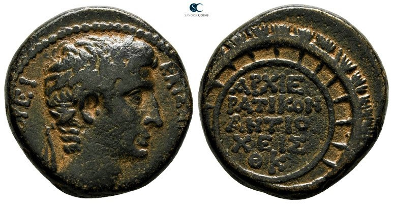 Seleucis and Pieria. Antioch. Augustus 27 BC-AD 14. Dated year 29 of the Actian ...