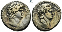 Seleucis and Pieria. Antioch. Nero, with Divus Claudius AD 54-68. Struck AD 63-68. Tetradrachm AR