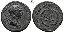 Trajan AD 98-117. Struck AD 114-117. Struck at Rome for circulation in the East. Semis Æ