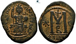 Justinian I AD 527-565. Struck AD 529-533. Theoupolis (Antioch). 2nd officina. Follis Æ
