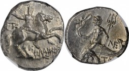 ITALY. Calabria. Tarentum. AR Nomos (6.75 gms), ca. 240-228 B.C. NGC MS, Strike: 4/5 Surface: 5/5.