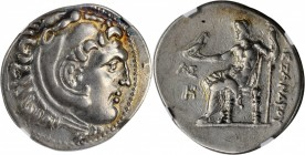 PAMPHYLIA. Aspendos. AR Tetradrachm (16.79 gms), Dated CY 8 (205/4 B.C.). NGC EF, Strike: 5/5 Surface: 4/5.