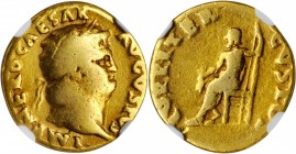 NERO, A.D. 54-68. AV Aureus (6.99 gms), Rome Mint, A.D. 67-68. NGC VG, Strike: 5/5 Surface: 4/5.
