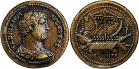 "HADRIAN, A.D. 117-138. AE ""Sestertius"" (30.21 gms). CHOICE VERY FINE.
