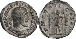 MAXIMINUS I, A.D. 235-238. AR Denarius, Rome Mint, A.D. 236. NGC Ch EF.