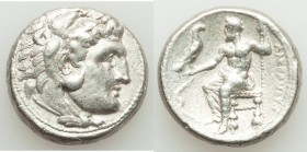 MACEDONIAN KINGDOM. Alexander III the Great (336-323 BC). AR tetradrachm (24mm, 17.01 gm, 12h). VF. Lifetime issue of Salamis, 332-323 BC. Head of Her...