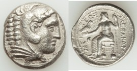 MACEDONIAN KINGDOM. Alexander III the Great (336-323 BC). AR tetradrachm (26mm, 16.47 gm, 5h). VF, porosity, scratches. Early posthumous issue of 'Amp...