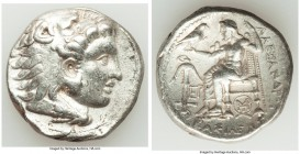 MACEDONIAN KINGDOM. Alexander III the Great (336-323 BC). AR tetradrachm (27mm, 16.99 gm, 8h). About XF. Posthumous issue under Seleucus I, uncertain ...