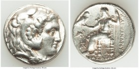 MACEDONIAN KINGDOM. Alexander III the Great (336-323 BC). AR tetradrachm (26mm, 16.99 gm, 5h). VF. Posthumous issue of Babylon I mint, under Seleucus ...