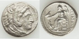 MACEDONIAN KINGDOM. Alexander III the Great (336-323 BC). AR tetradrachm (27mm, 15.78 gm, 7h). XF, porosity. Lifetime issue of 'Amphipolis', ca. 325-3...