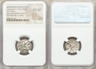 MACEDONIAN KINGDOM. Alexander III the Great (336-323 BC). AR drachm (18mm, 10h). NGC Choice XF. Posthumous issue of Abydus, ca. 310-301 BC. Head of He...