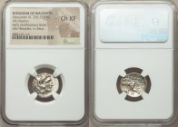 MACEDONIAN KINGDOM. Alexander III the Great (336-323 BC). AR drachm (18mm, 9h). NGC Choice XF. Posthumous issue of Sardes, under Antigonus I Monophtha...