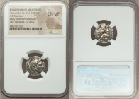 MACEDONIAN KINGDOM. Alexander III the Great (336-323 BC). AR drachm (17mm, 6h). NGC Choice VF. Early posthumous issue of Lampsacus, by Leonnatus, Arrh...