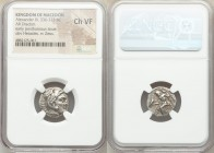 MACEDONIAN KINGDOM. Alexander III the Great (336-323 BC). AR drachm (17mm, 11h). NGC Choice VF. Posthumous issue of Lampsacus, ca. 310-301 BC. Head of...