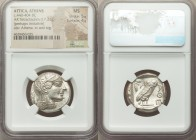 ATTICA. Athens. Ca. 440-404 BC. AR tetradrachm (24mm, 17.21 gm, 12h). NGC MS 5/5 - 4/5. Mid-mass coinage issue. Head of Athena right, wearing crested ...