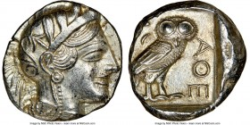 ATTICA. Athens. Ca. 440-404 BC. AR tetradrachm (24mm, 17.20 gm, 9h). NGC MS 4/5 - 4/5. Mid-mass coinage issue. Head of Athena right, wearing crested A...