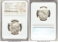 ATTICA. Athens. Ca. 440-404 BC. AR tetradrachm (24mm, 17.15 gm, 3h). NGC MS 4/5 - 4/5. Mid-mass coinage issue. Head of Athena right, wearing crested A...