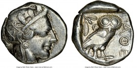 ATTICA. Athens. Ca. 440-404 BC. AR tetradrachm (23mm, 17.15 gm, 5h). NGC Choice VF 5/5 - 4/5. Mid-mass coinage issue. Head of Athena right, wearing cr...