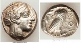 ATTICA. Athens. Ca. 440-404 BC. AR tetradrachm (25mm, 17.52 gm, 9h). XF. Mid-mass coinage issue. Head of Athena right, wearing crested Attic helmet or...