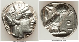 ATTICA. Athens. Ca. 440-404 BC. AR tetradrachm (25mm, 17.13 gm, 8h). XF, scratch. Mid-mass coinage issue. Head of Athena right, wearing crested Attic ...