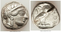 ATTICA. Athens. Ca. 440-404 BC. AR tetradrachm (24mm, 17.04 gm, 2h). VF, test cut, scratch. Mid-mass coinage issue. Head of Athena right, wearing cres...
