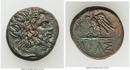 BITHYNIA. Dia. Mithradates VI Eupator (ca. 95-90 or 80-70 BC). AE (20mm, 7.80 gm, 12h). Choice AU. Laureate head of Zeus right / ΔIAΣ, eagle standing ...