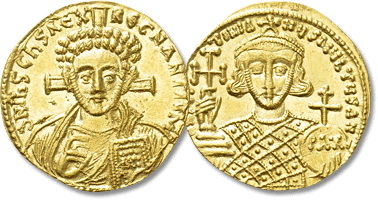 Lot 796. JUSTINIAN II (Second reign, 705-711). GOLD Solidus. Constantinople.