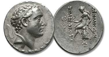 Lot 258. Seleukid Kings of Syria. Seleukos IV Philopator (187-175 BC.) AR Tetradrachm.